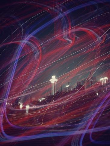 Night view - double exposure