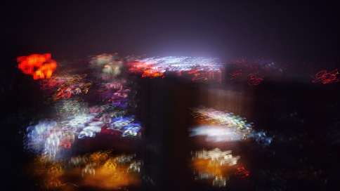 Night view of impressionism style